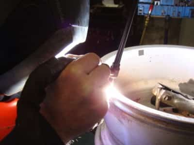 Alloy wheel welding