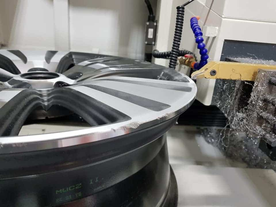 Diamond cut wheel repair CNC machine