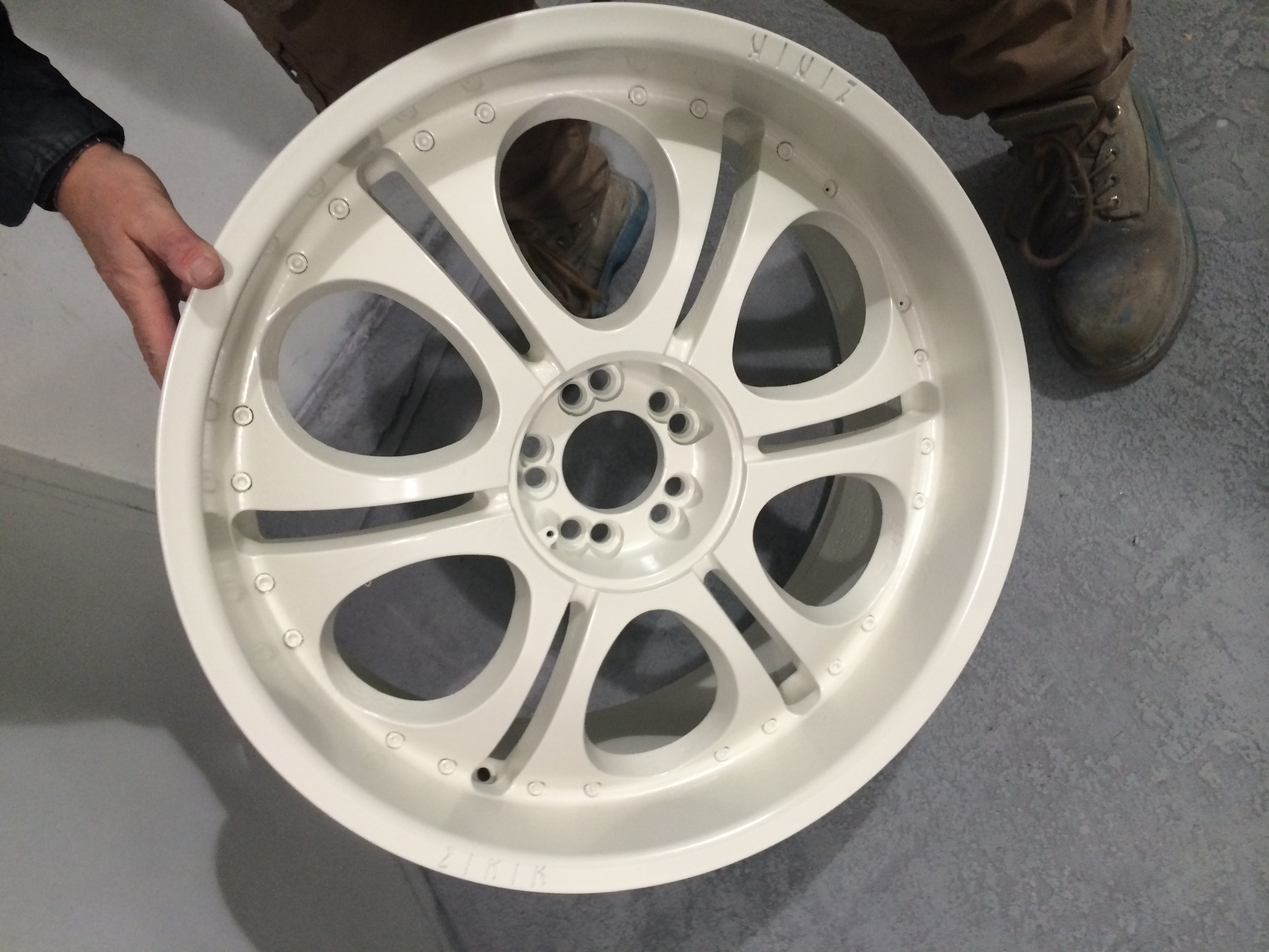 Chrome Alloy wheel primed